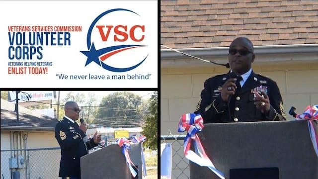 SGM Joe Tracy speaks at 1st Reinvest Veterans day
