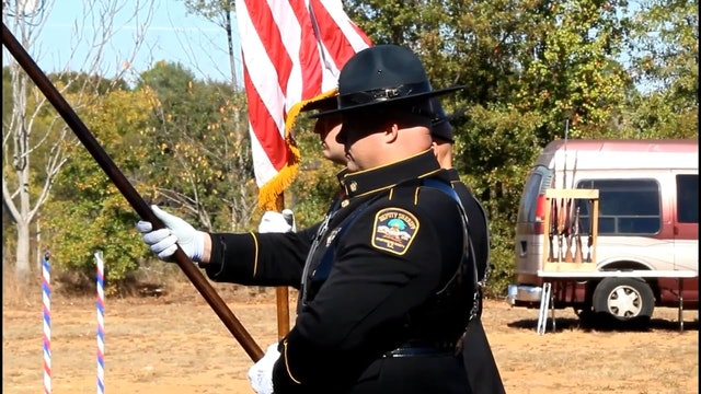 Spartanburg County Honor Guard presents colors