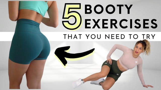 5 MUST DO GLUTE EXERCISES (NO EQUIPMENT)