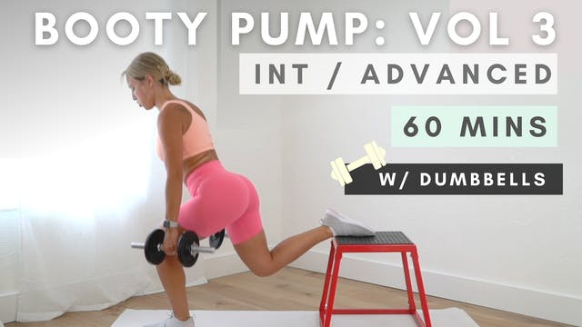 BOOTY PUMP DUMBBELL WORKOUT / vol. 3