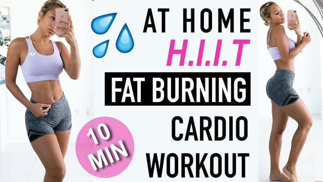 AT HOME HIIT _ Fat Burning WORKOUT, l...