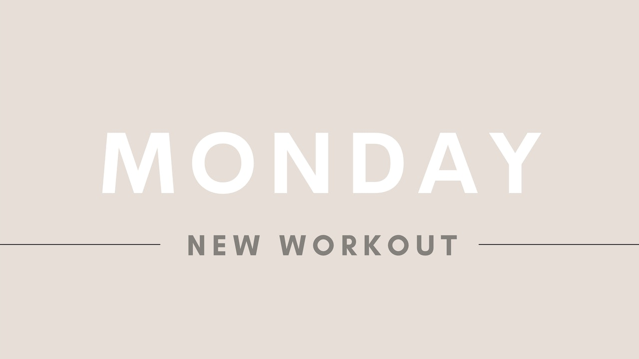 MONDAY / NEW WORKOUT: 30 mins full body (with dumbbells)