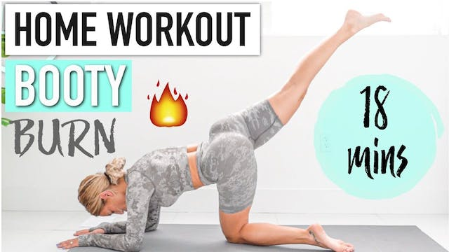 HOME BOOTY WORKOUT - Bodyweight booty...