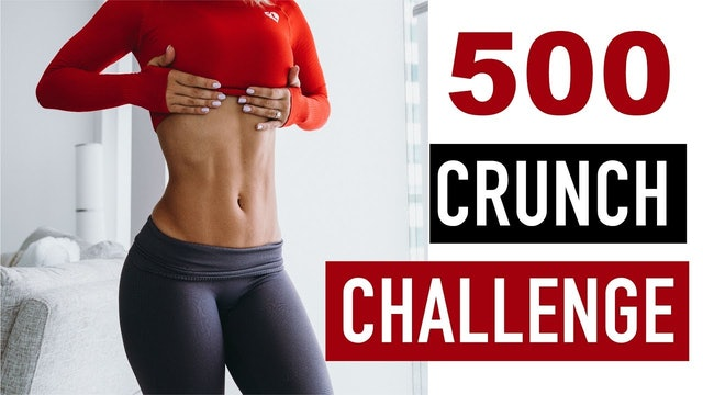 INTENSE AB WORKOUT - 500 crunch challenge by Vicky Justiz