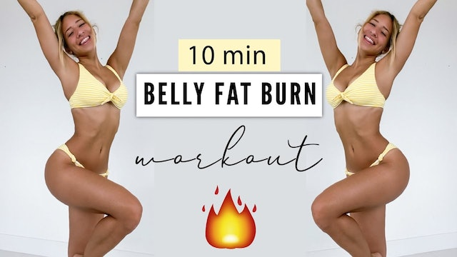 BELLY FAT BURN WORKOUT 🔥 HIIT Cardio Workout (YT)