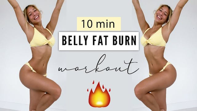 BELLY FAT BURN WORKOUT 🔥 HIIT Cardio ...