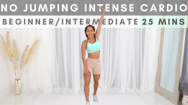 NO JUMPING Intense Workout | Fast-Paced Cardio