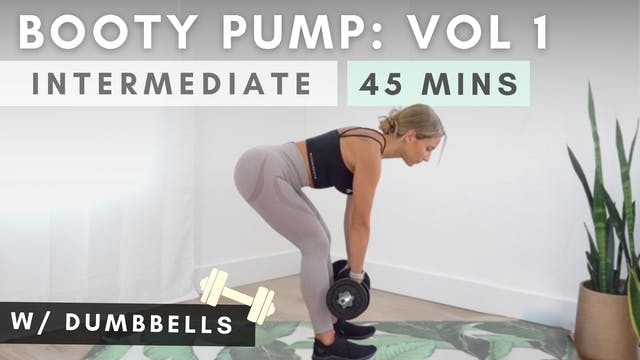 BOOTY PUMP DUMBBELL WORKOUT / vol. 1
