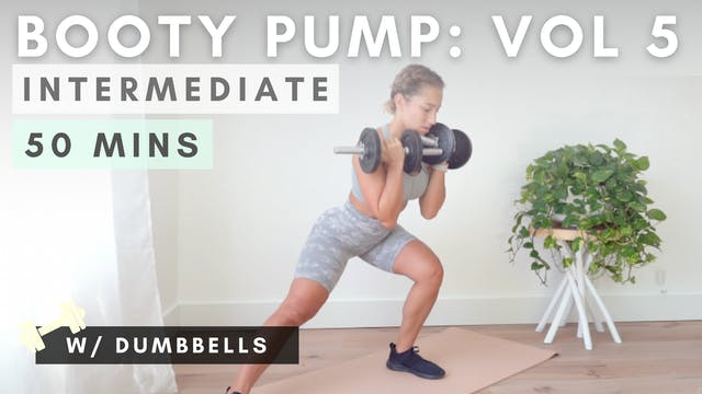 BOOTY PUMP DUMBBELL WORKOUT / vol. 5