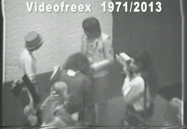Naked artist performance at Yoko Ono's Everson Museum retrospective October 9, 1971