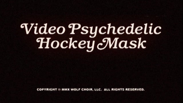Video Psychedelic Hockey Mask