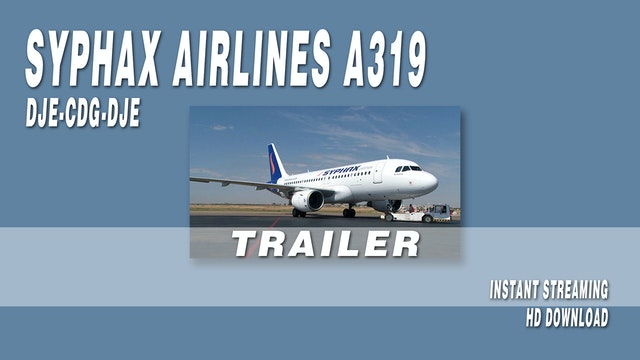 Syphax Airlines A319 DJE-CDG-DJE