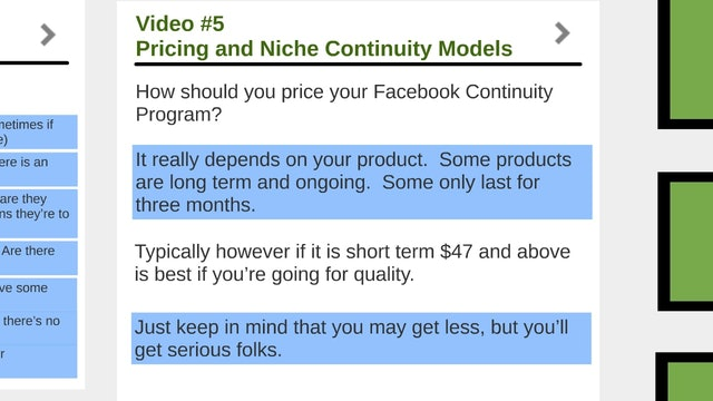 Facebook Traffic: 5 - Price and Models