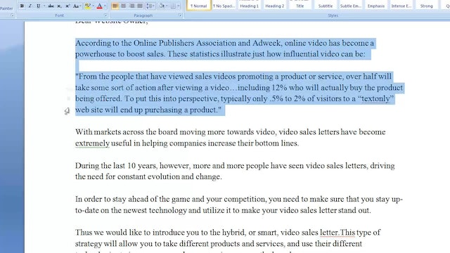 Video Sales Letters: 8 - Technology