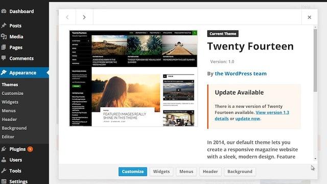 Wordpress Customization: 1 - Built-in Themes