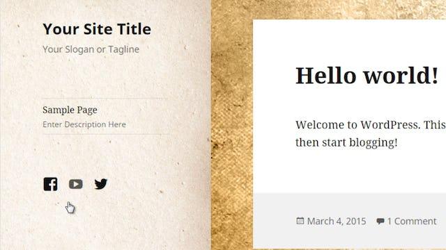 Wordpress Customization: 6 - Social Links Menu