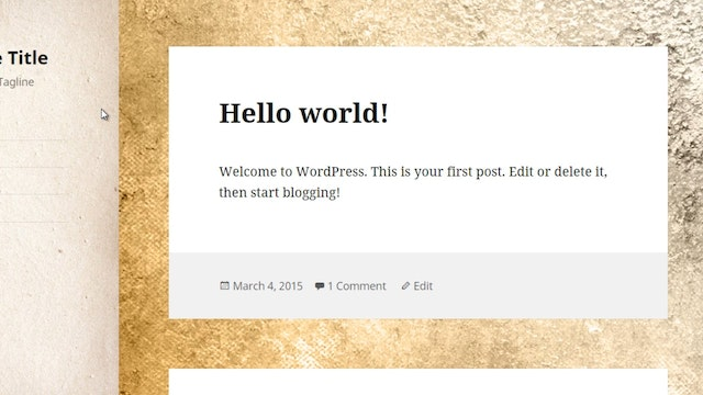 Wordpress Customization: 5 - Menu & D...