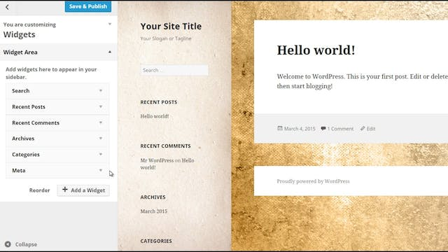 Wordpress Customization: 4 - Sidebar ...