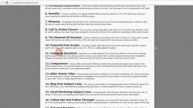 Design, Develop, & Sell: 15 - Copywriting