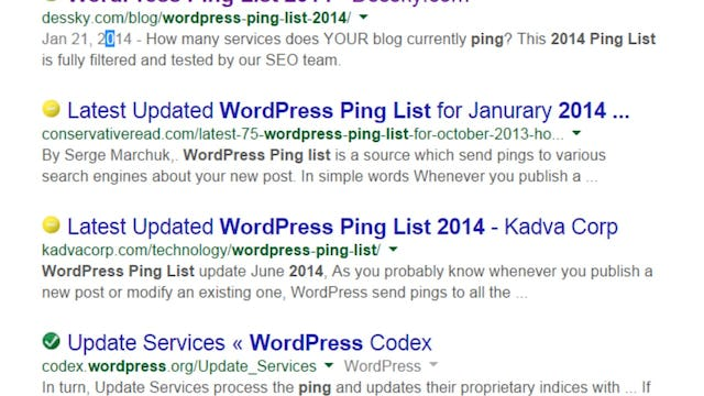 Building Your Website: 13 - Launch the Site to Search Engines using Ping Settings