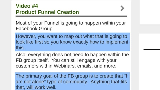Facebook Traffic: 4 - Funnel Mapping