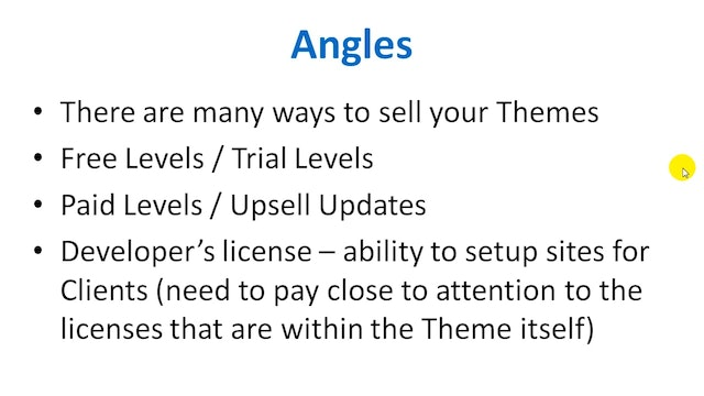 Design, Develop, & Sell: 14 - Angle Sales