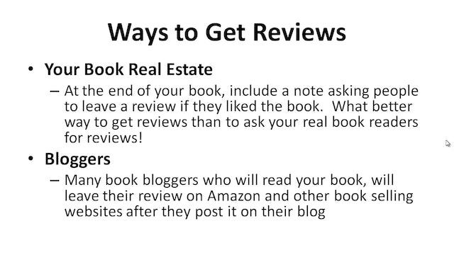 Bestseller Blueprint: 4 - Reviews