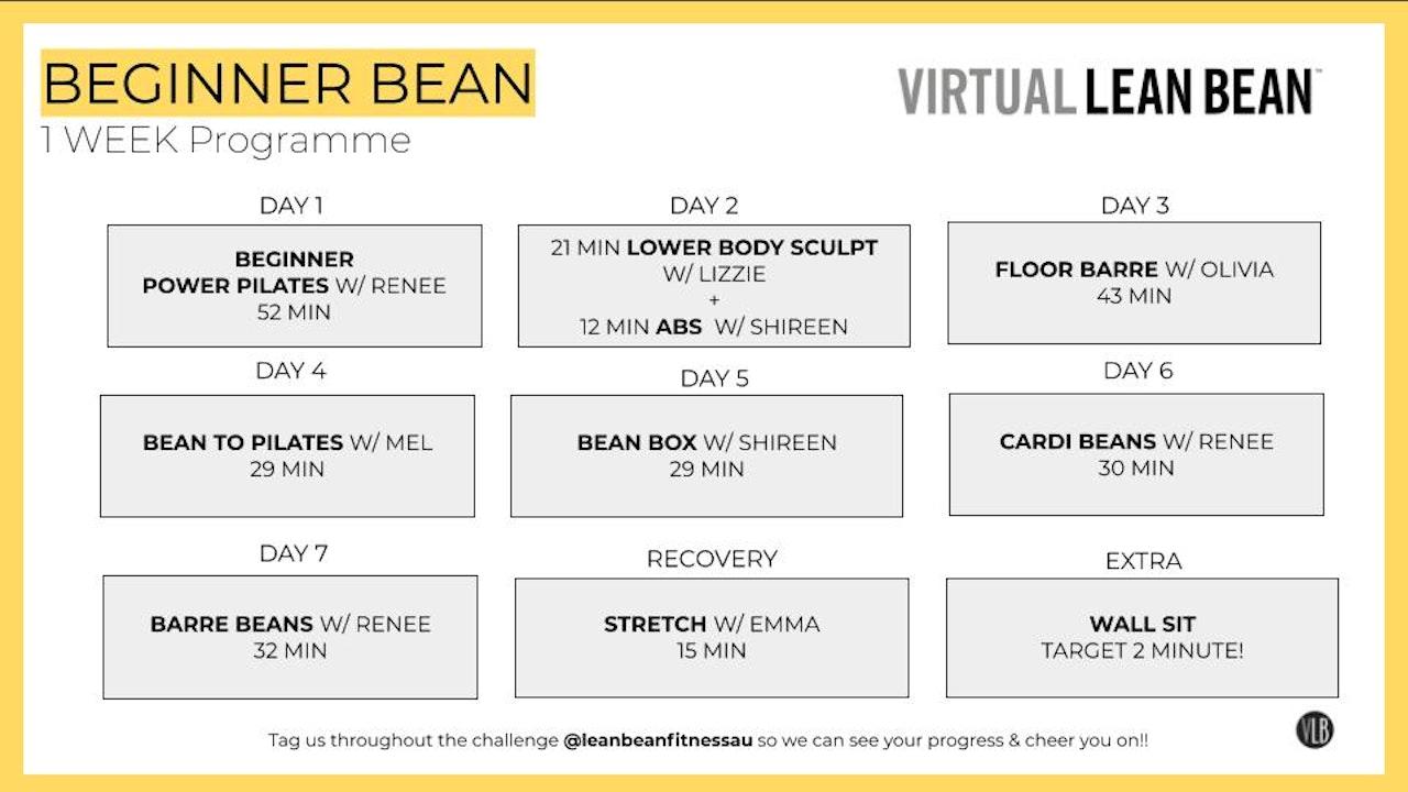 Beginner Beans: 7 Day Programme
