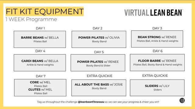 VLB 1 Week Programme - Fit Kit