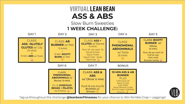 VLB Weekly challenge - Abs & Ass