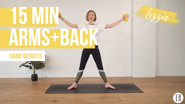 15 Min Arms + Back with Lizzie