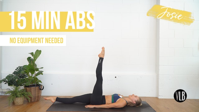 DAY 1: 15 Min Abs with Josie