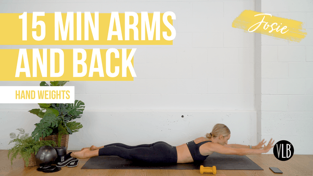 15 Min Arms and Back with Josie