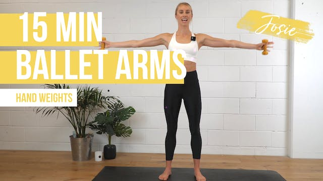 15 Min Ballet Bean Arms with Josie
