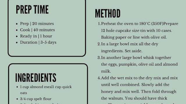 Spiced Pumpkin Muffin Recipe