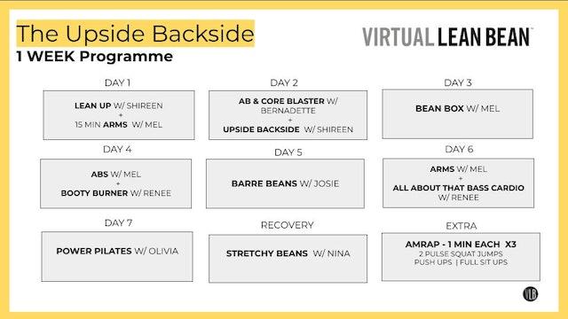 VLB 1 Week Programme - The Upside Backside