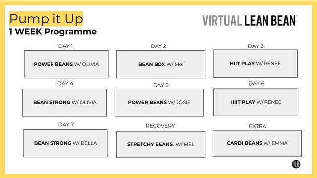VLB 1 Week Programme - Pump It Up