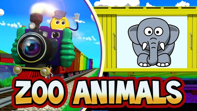Cartoon Zoo Animals