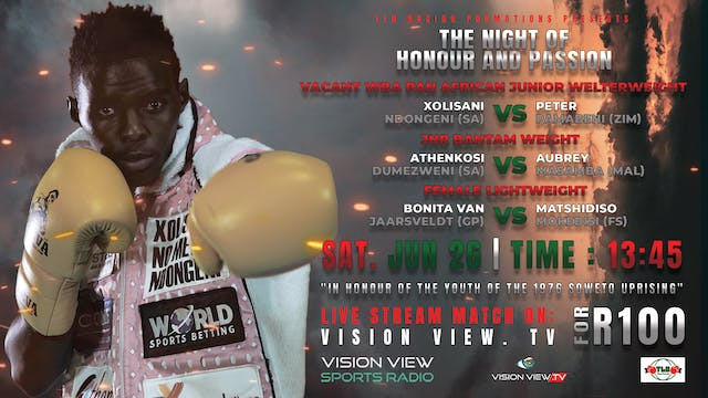 The Night of Honour and Passion Boxin...