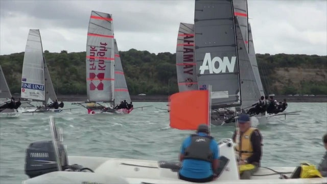 12 and 18ft Skiffs Auckland Champs 2015