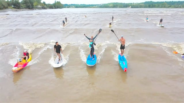 Surfing a River Wave and cruising Fra...