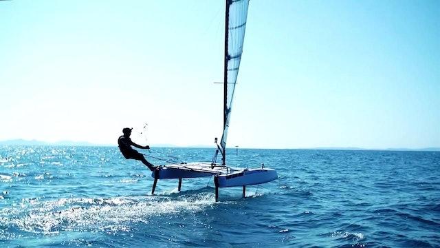 S9 Team's Stunt T foiling catamaran