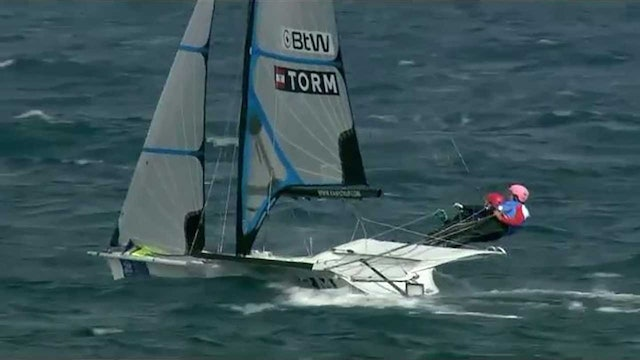2015 Hyeres World Cup - 49erFX Medal Race Highlights
