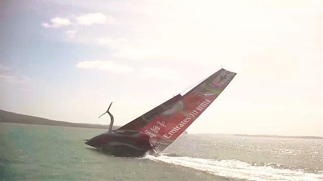 Emirates Team NZL - Te Aihe Capsize