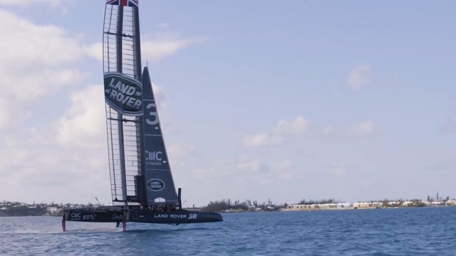 Land Rover BAR - First sail in Bermuda
