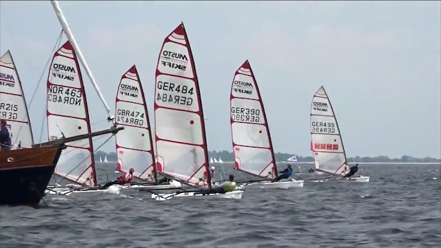 Kiel Week 2016 - 20th June - Highlights - Musto Skiffs taking off