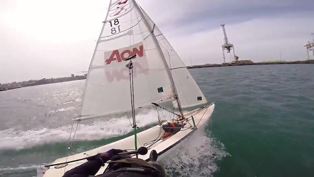 14 foot Skiff sailing in Port Elizabeth, South Africa