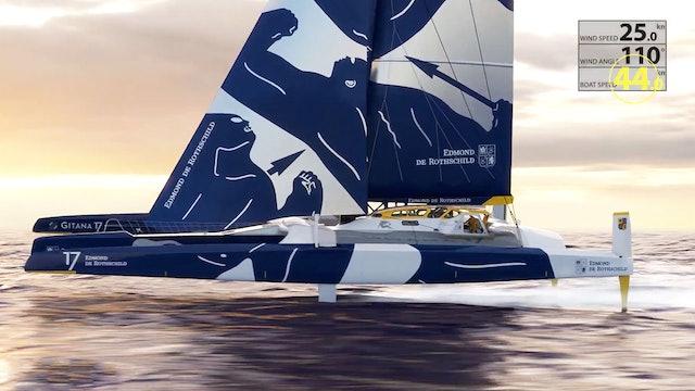 Gitana Team - Making an Ocean Maxi Trimaran Fly..