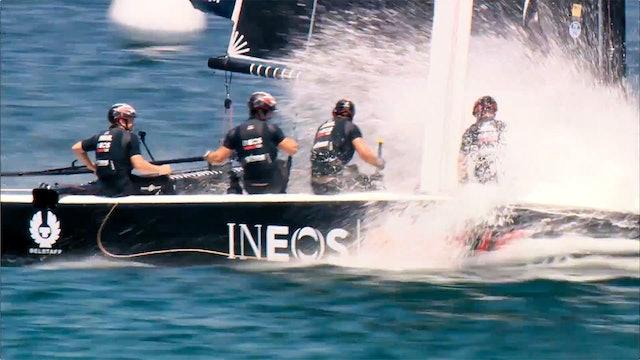 INEOS Rebels UK - Podium at Act 4 - Extreme Sailing Series, Cascais
