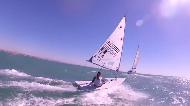 Laser 20 Knots Downwind with the Italian National Sailors